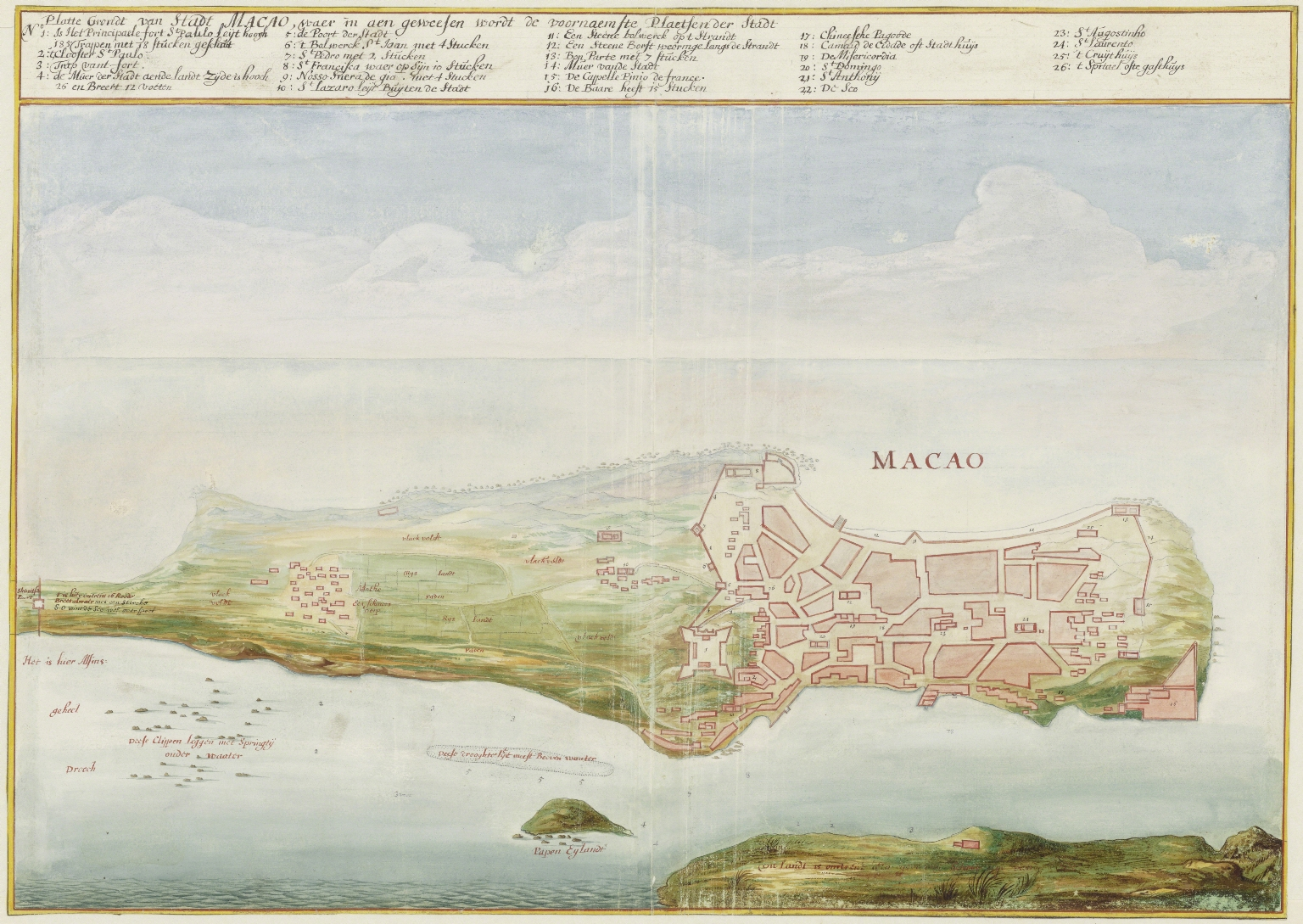 Map of the city of Macao