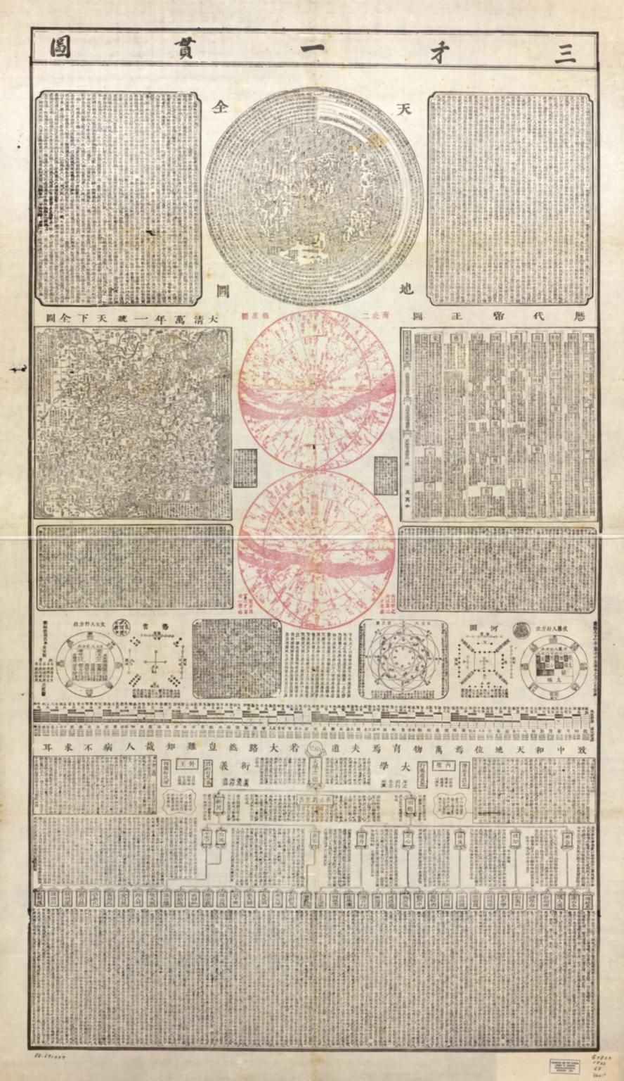 三才一貫圖 = Map of the three powers unified