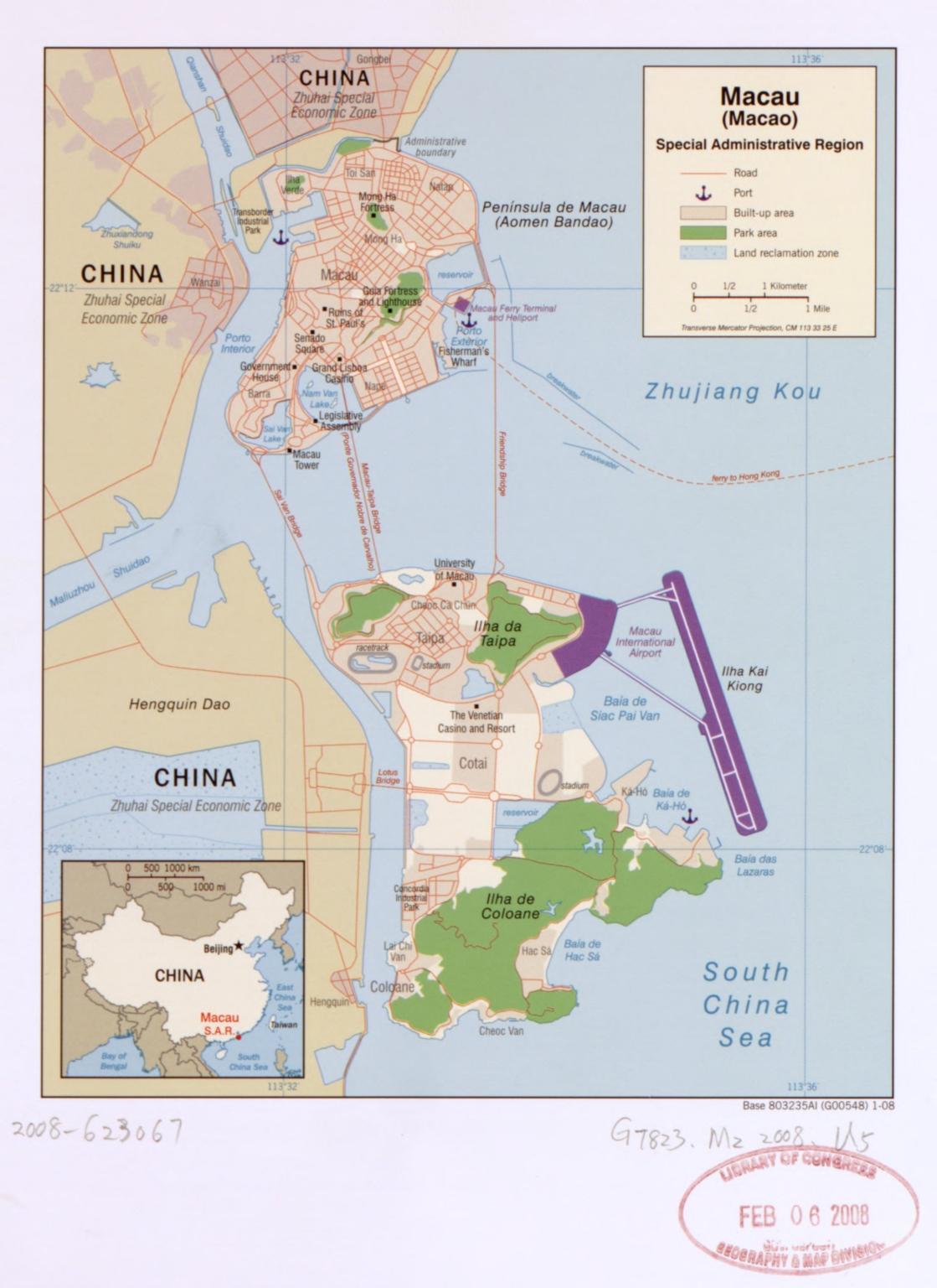 Macau (Macao) Special Administrative Region
