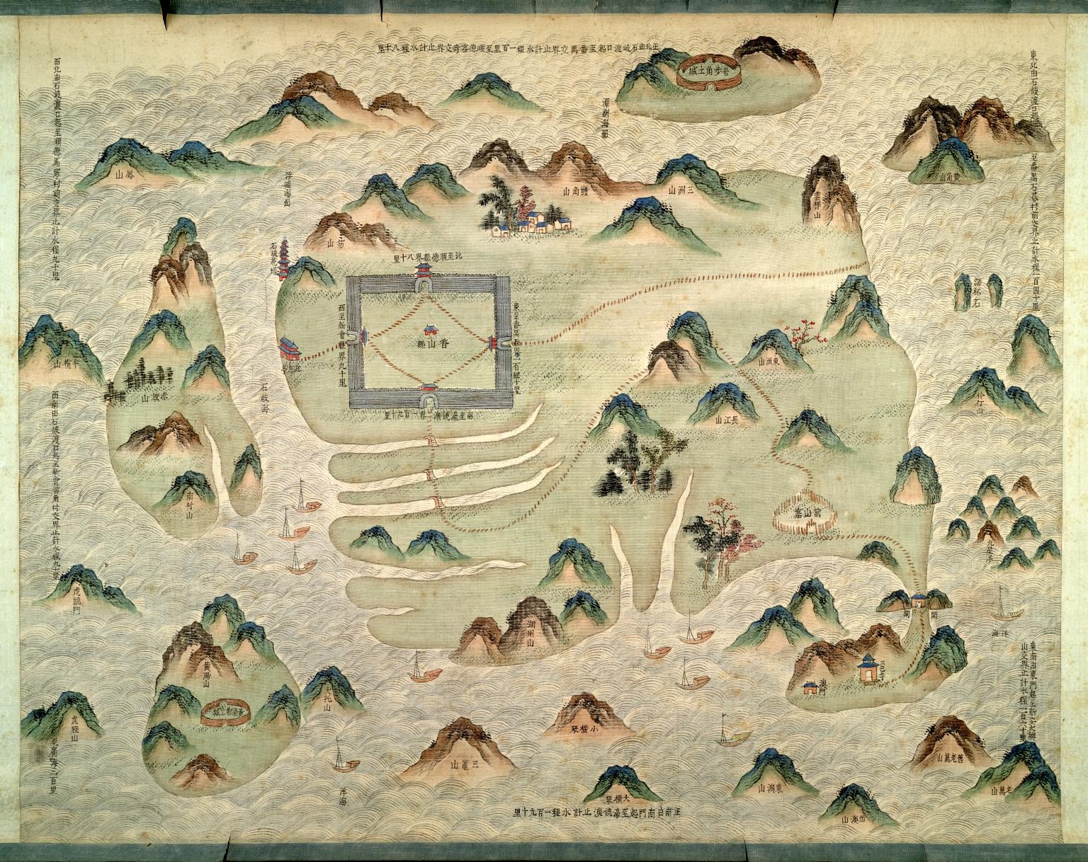 廣州府分縣圖 : 香山縣圖 = Map of Xiangshan Xian