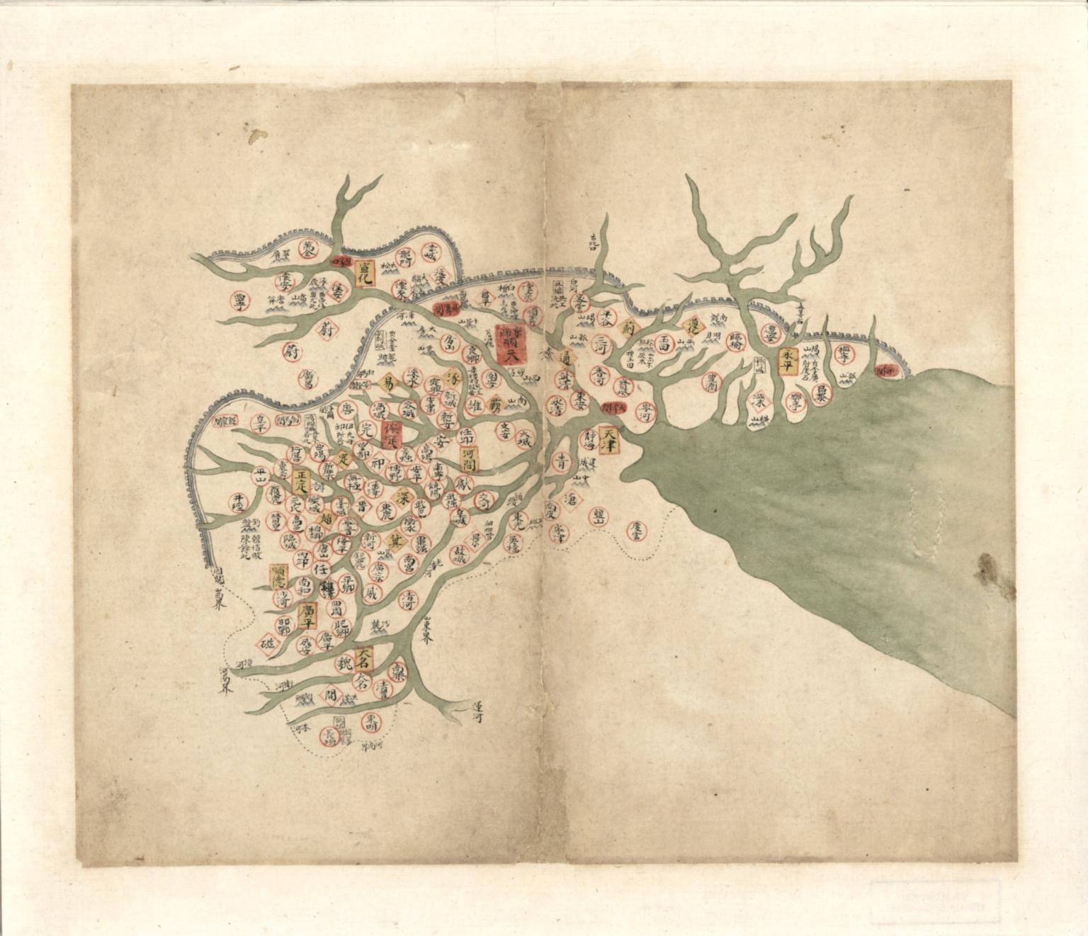 直隸省輿圖 = Map of Hebei Province