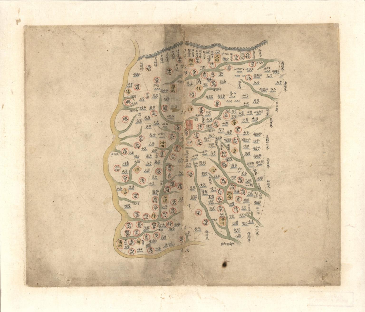 山西省輿圖 = Map of Shanxi Province