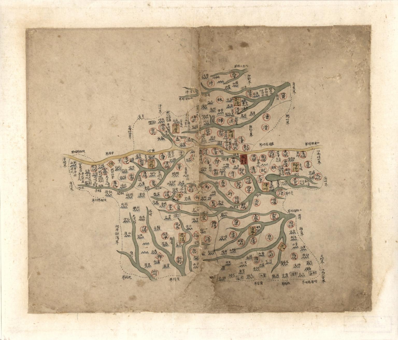 河南省輿圖 = Map of Henan Province