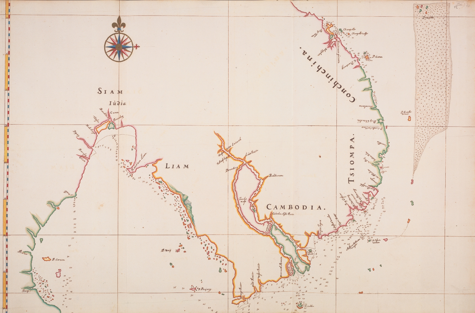 Map of the coasts of Siam, Cambodia and Cochin-China