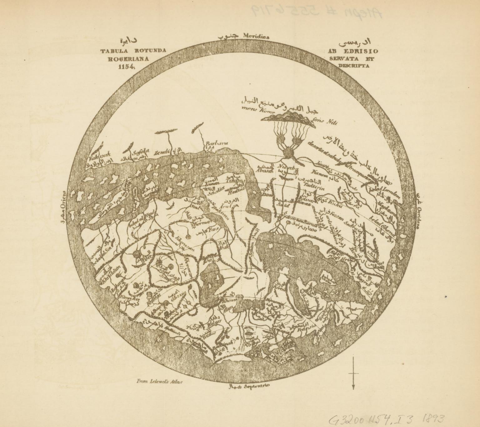 Tabula rotunda Rogeriana, 1154