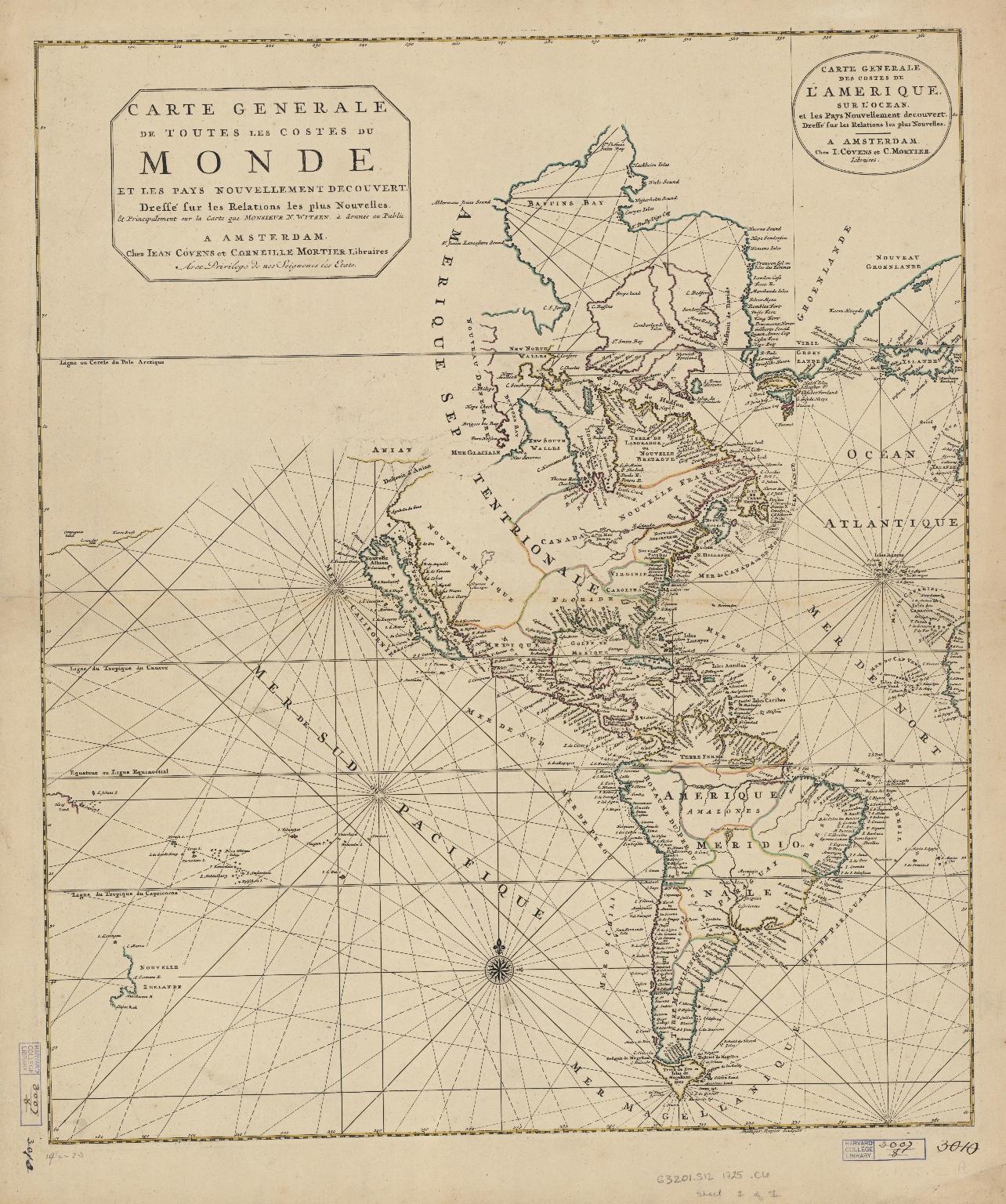 Carte generale de toutes les costes du Monde : et les pays nouvellement decouvert.Part 1