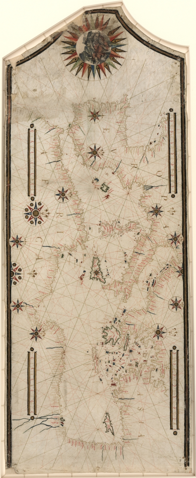 Portolan chart of the Mediterranean and connecting seas