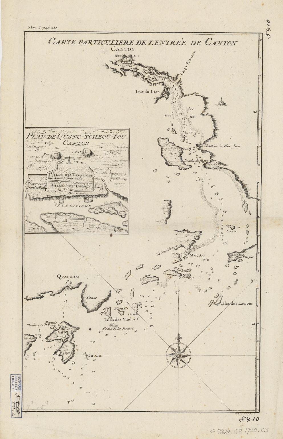 Carte particulière de l'entrée de Canton