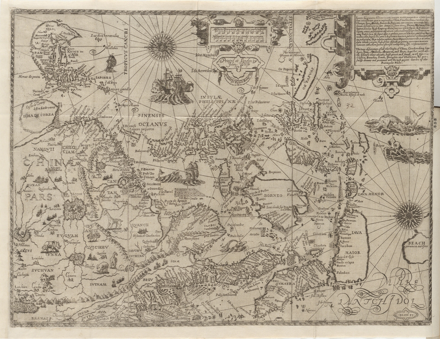 The Nauigation of the Portingales into the East Indies, containing their trauels by Sea, into East India, and from the East Indies into Portingall, also from the Portingall Indies to Malacca, China, Iapon, the Islands of Iaua and Sunda ...