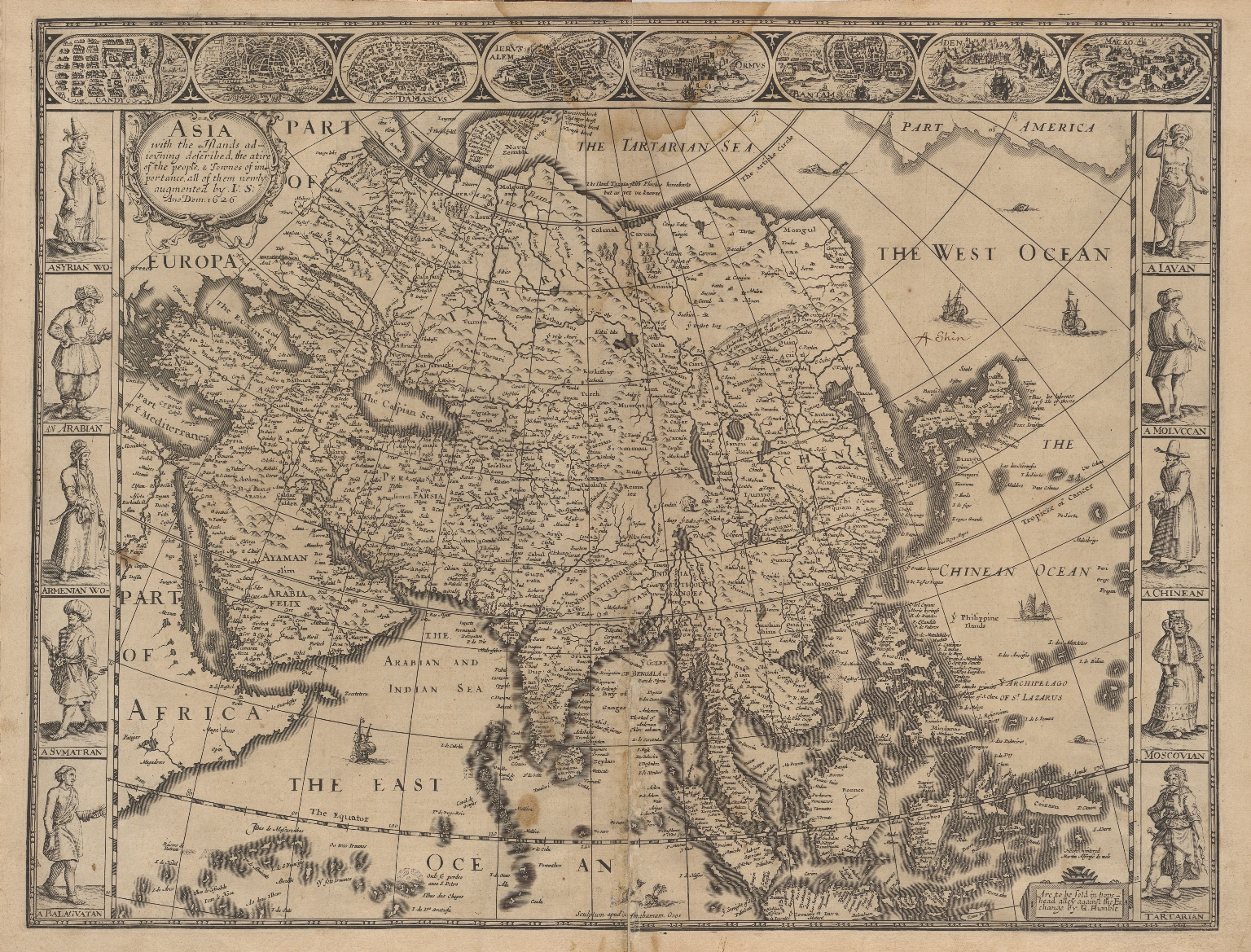Asia with the Islands adjoining described, the attire of the people, & Townes of importance