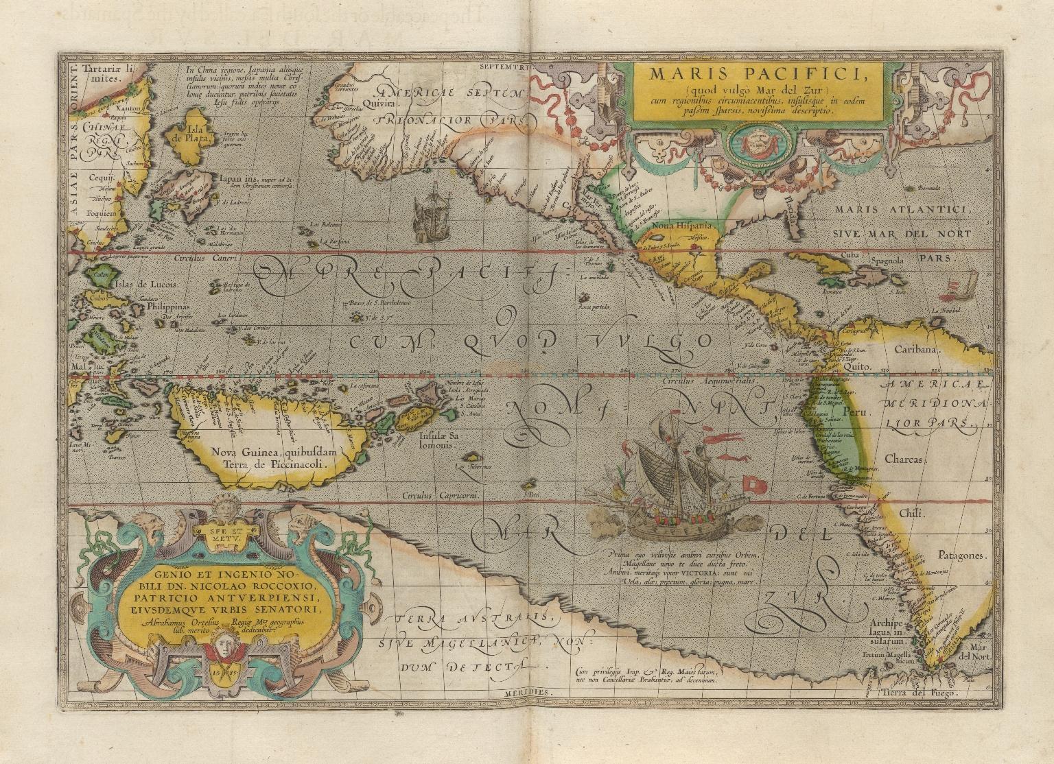 Maris Pacifici, (quod vulgò Mar del Zur) cum regionibus circumiacentibus, insulisq́ue in eodem passim sparsis, novissima descriptio