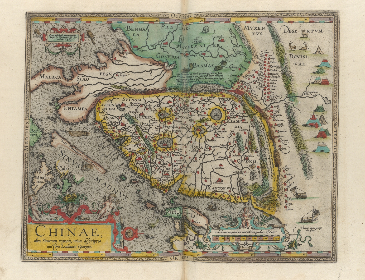 A new representation of China, once called the region of the Chinese, by Ludovicus Georgius