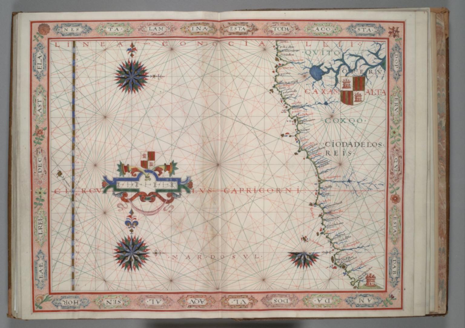 Fernão Vaz Dourado: West coast of South America from Ecuador to north Chile
