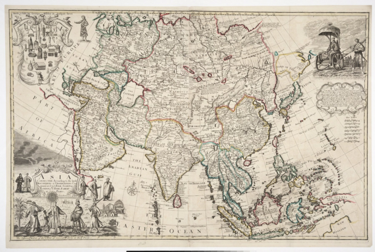 Asia Corrected, According to the latest Discoveries & Observations Communicated to the Royal Society of London and the Royal Academy of Paris.