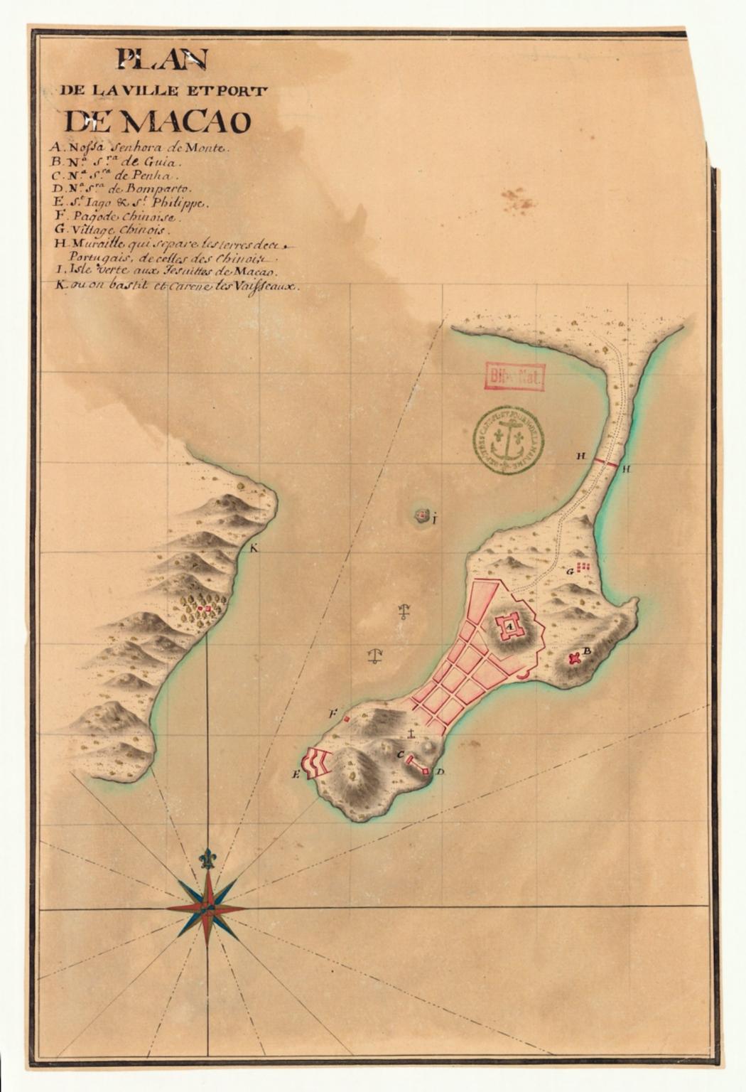 Plan de la ville et port de Macao