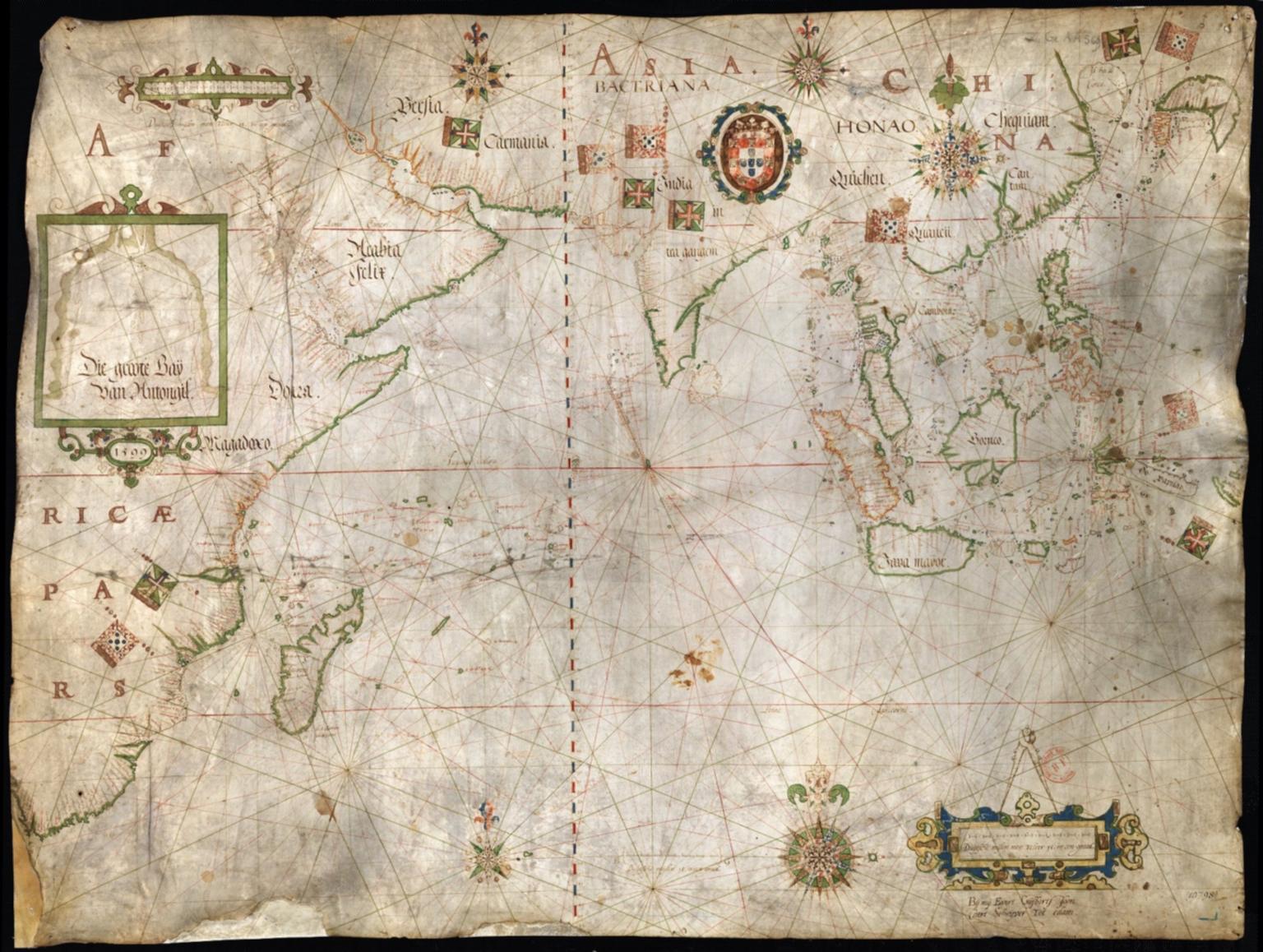 Carte nautique de l'Océan Indien et des mers de Chine
