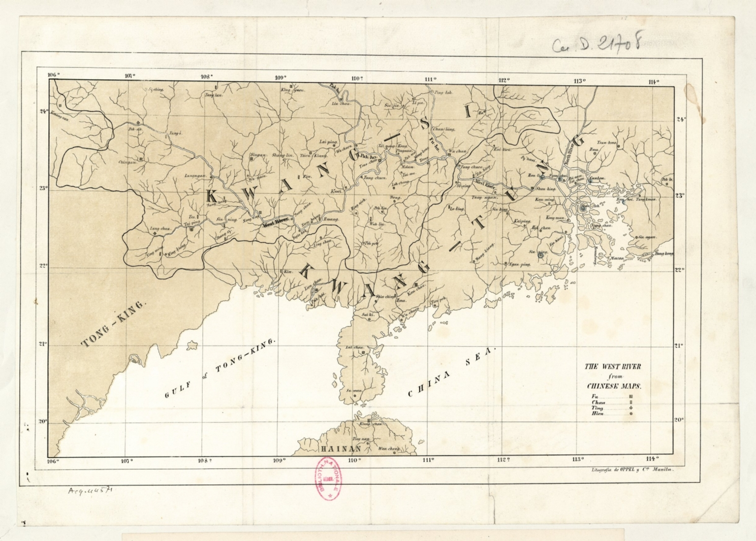 The West River from Chinese maps