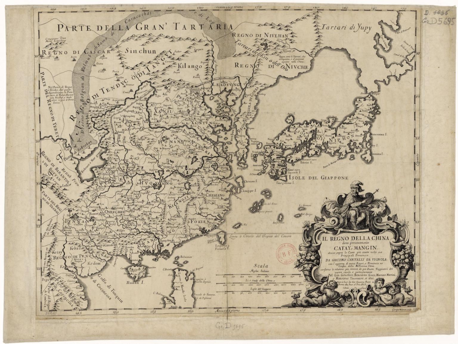 Il regno della China detto presentemente Catay, Mangin... da Giacomo Cantelli da Nignola