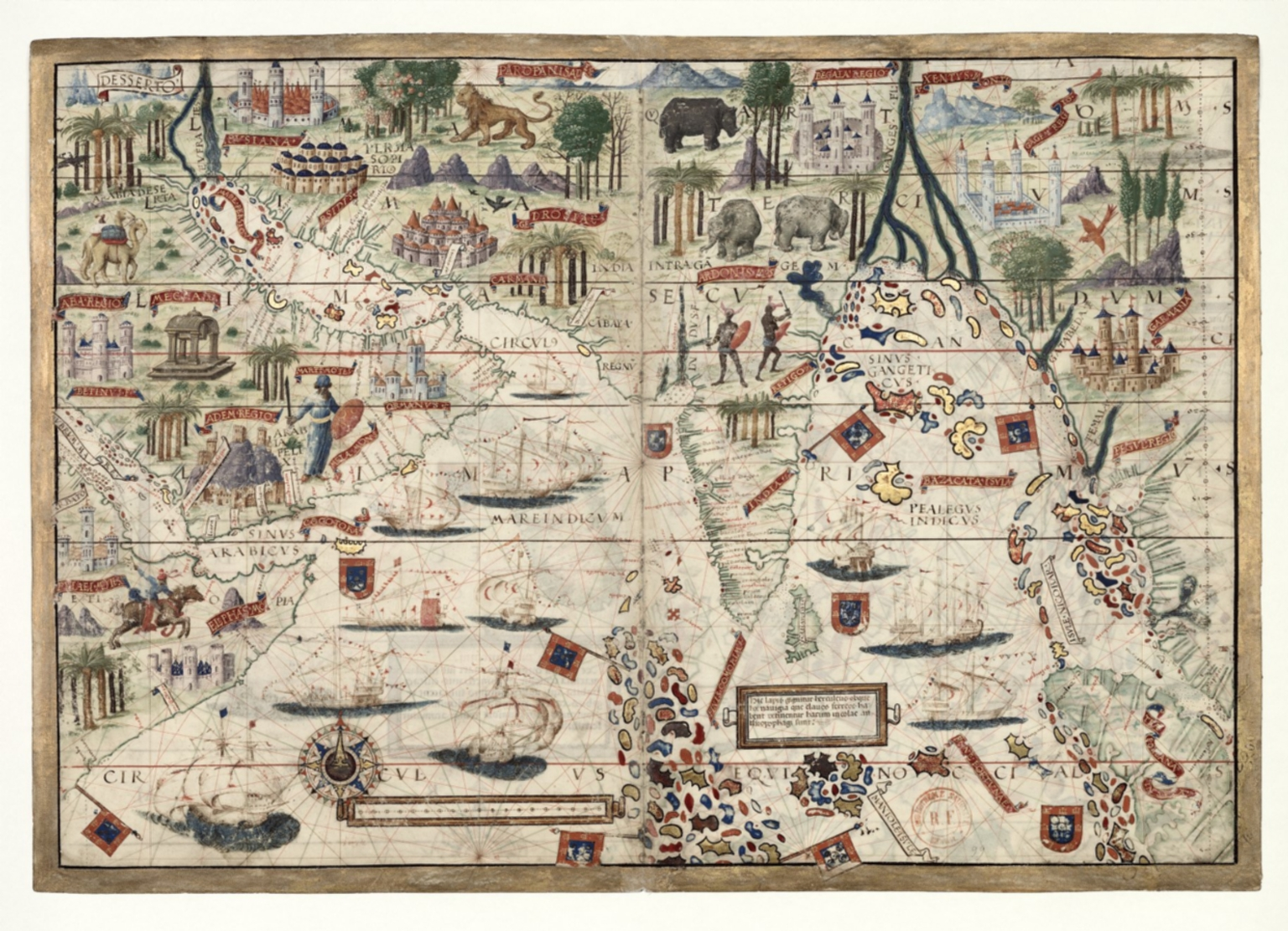 North Indian Ocean with Arabia and India, the atlas Miller
