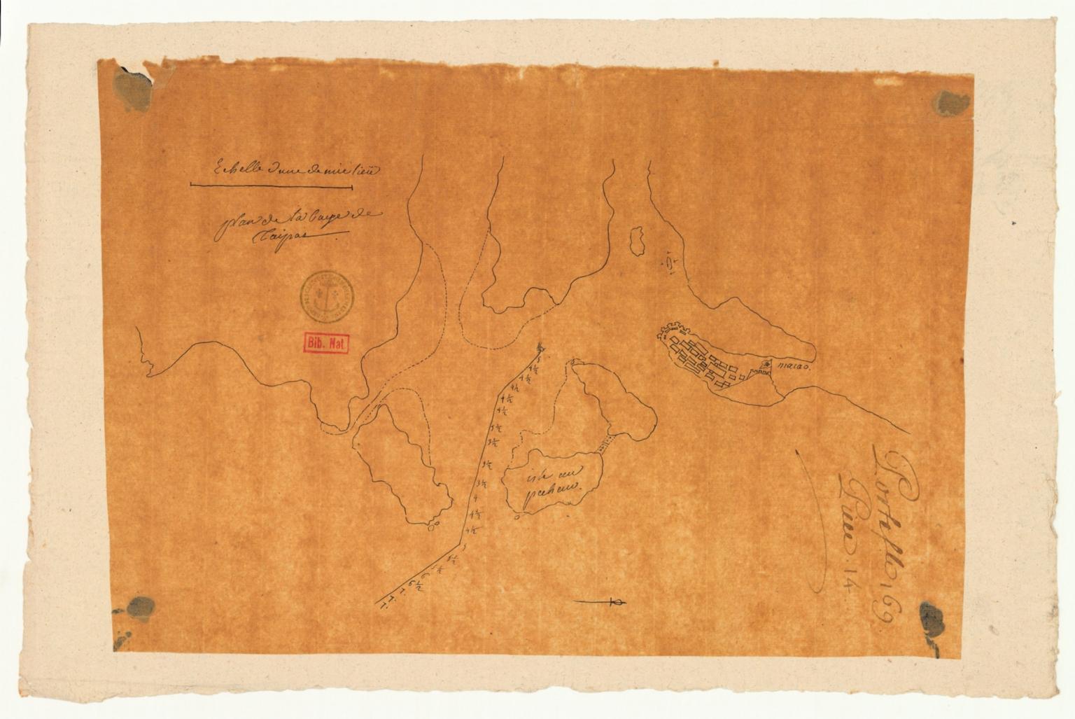 Plan de la baye de Taipas