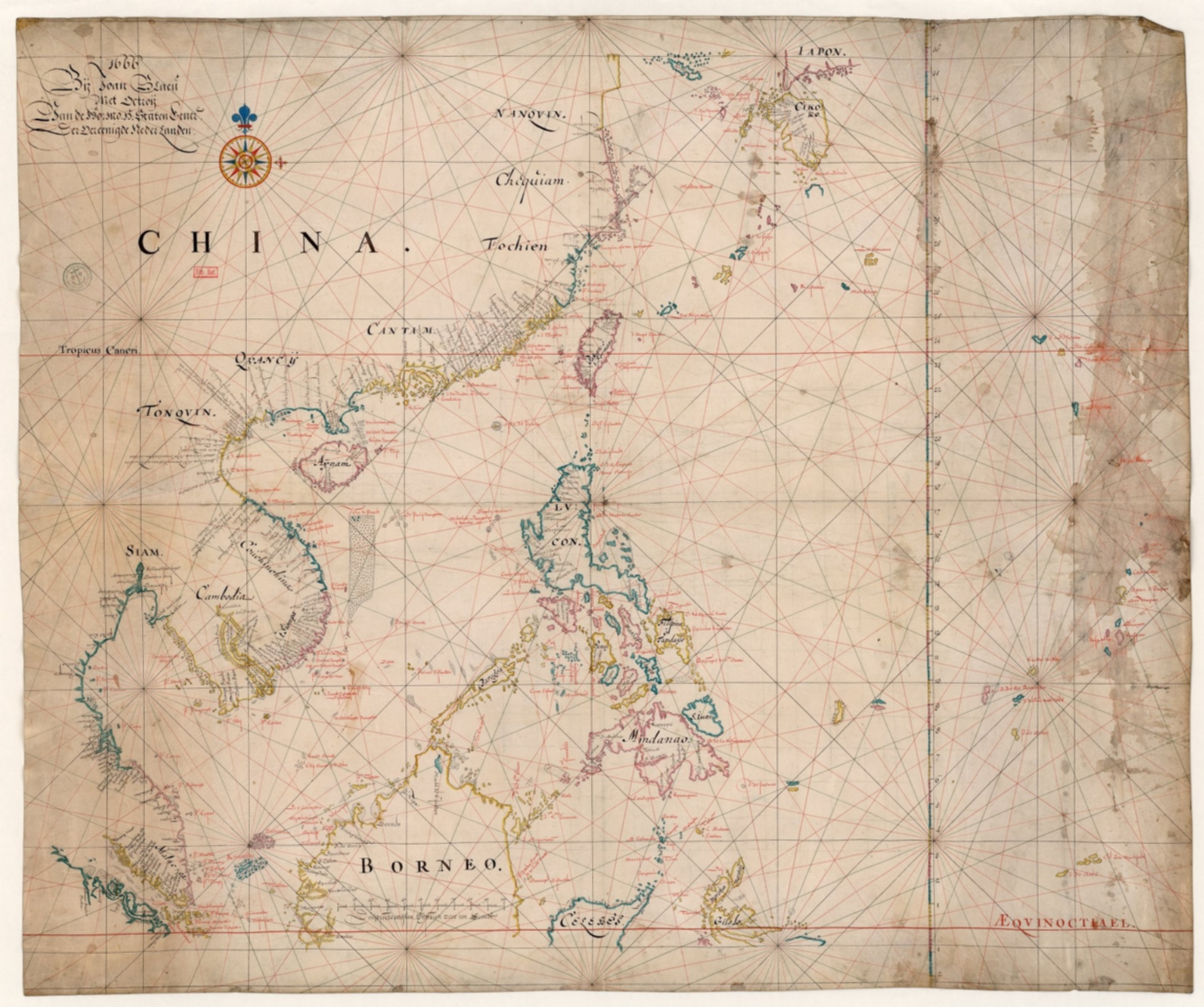 Map of the China Sea