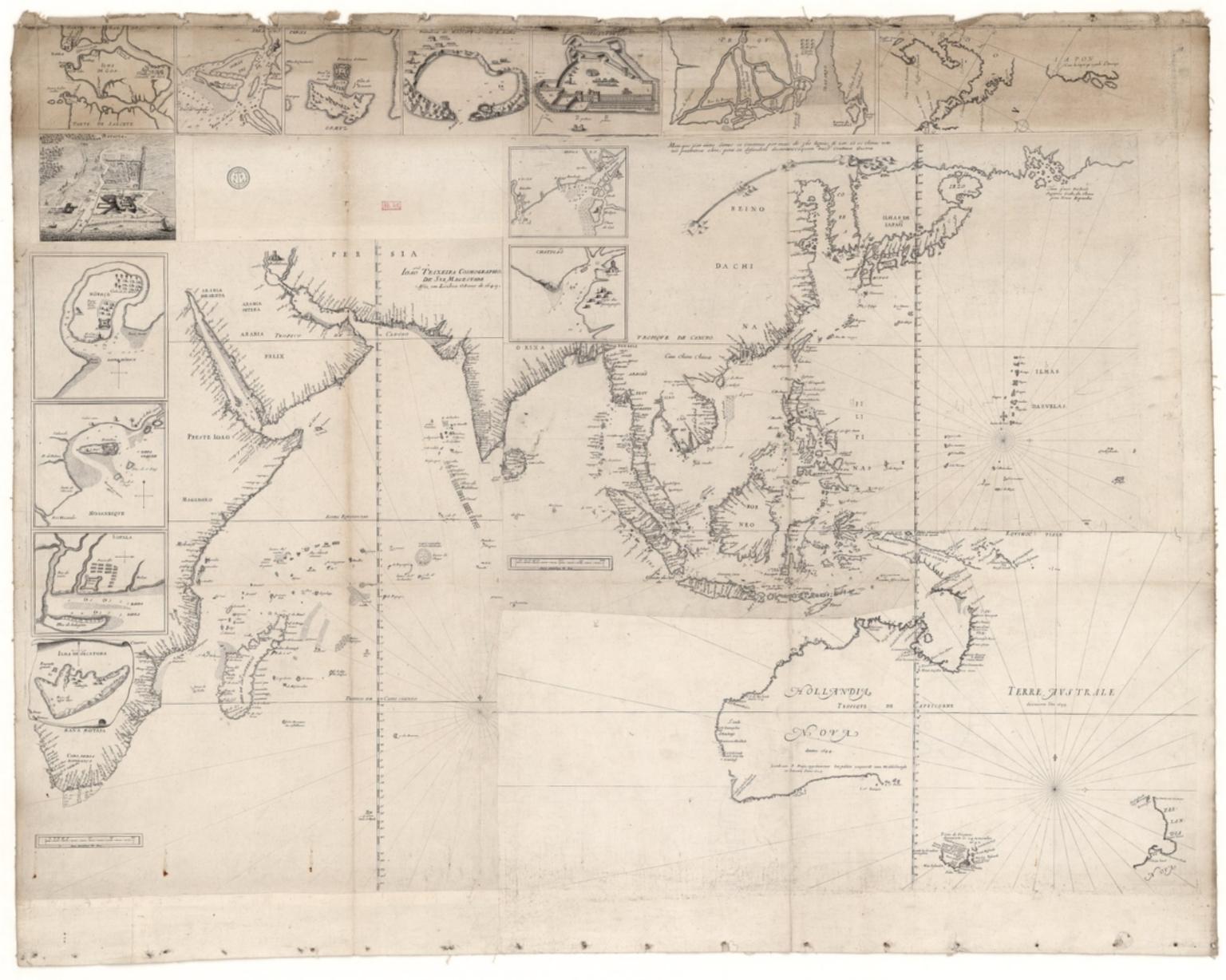 Carte de l'Océan Indien, des cotes de l'Afrique et de l'Asie depuis le cap de Bonne-Espérance jusqu'au Japon