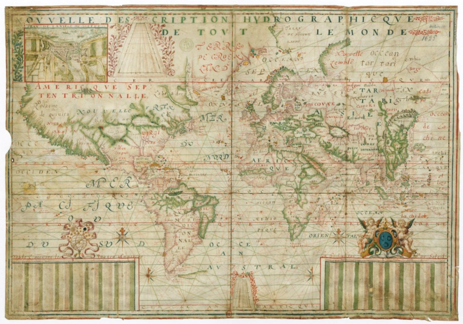 Nouvelle Description hydrographicque : de tout le Monde, 1625
