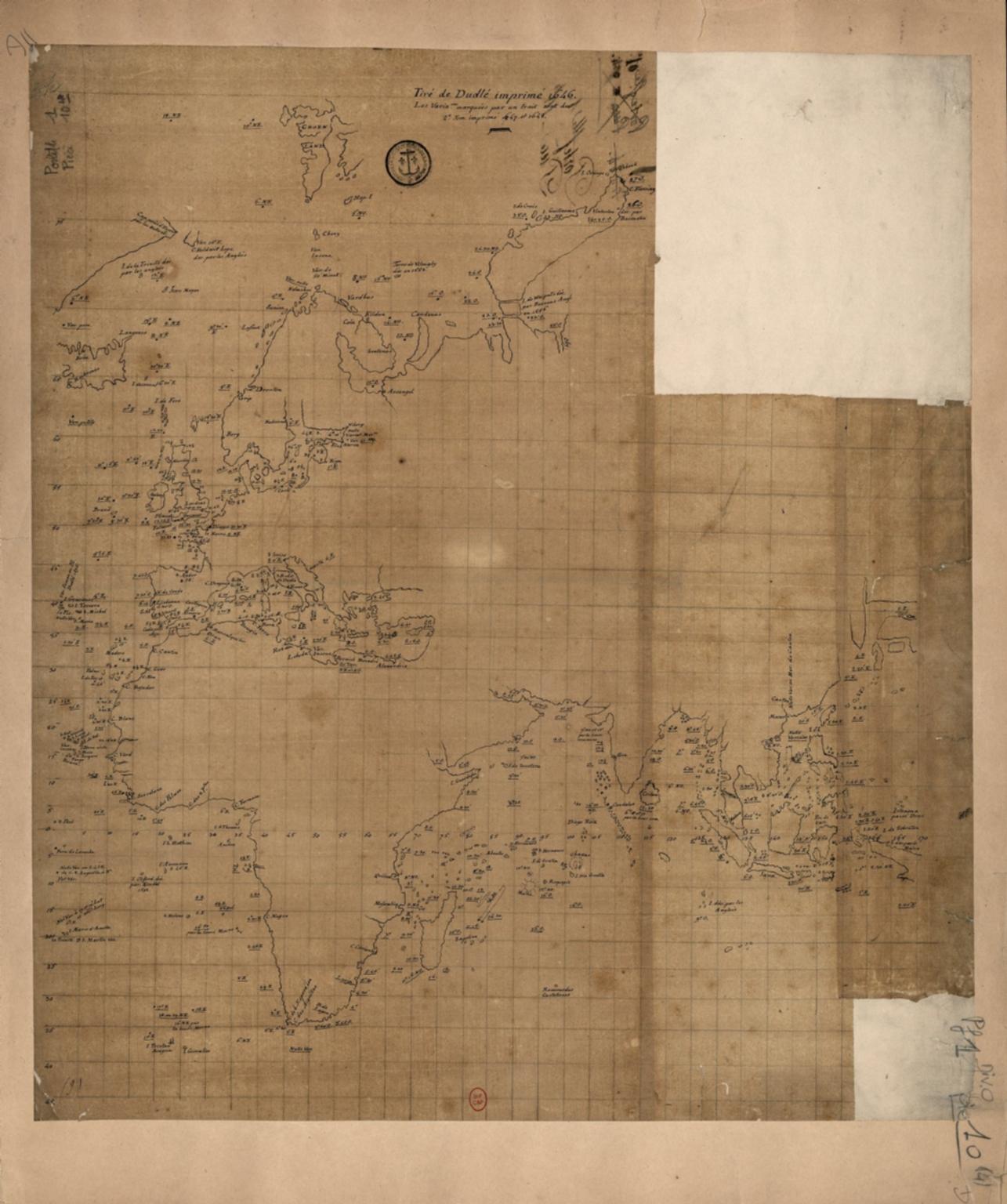 [Observations publiées en 1646-1648 par Robert Dudley, Atlantique, Méditerranée, Océan Indien, Mer de Chine]