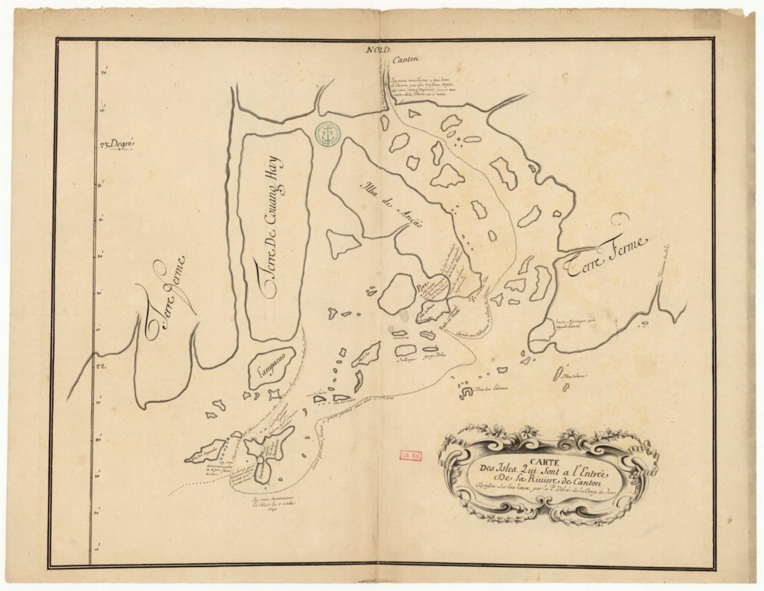 Carte des isles qui sont à l'entrée de la riviere de Canton