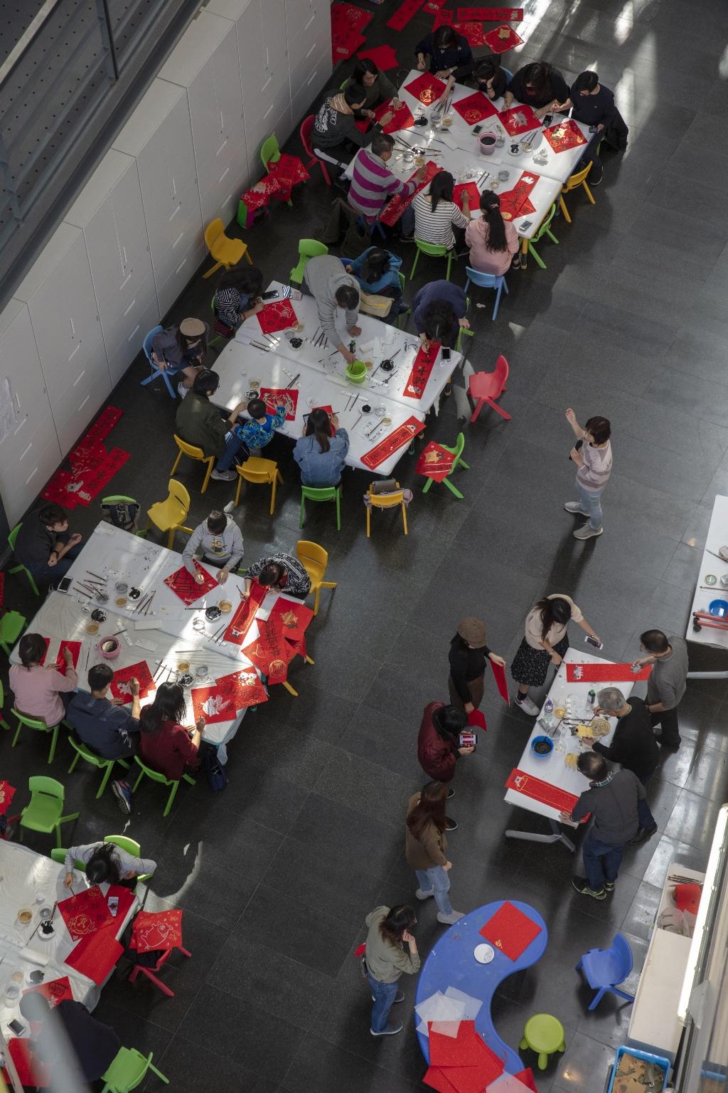 澳門藝術博物館零層,揮春對聯興趣班