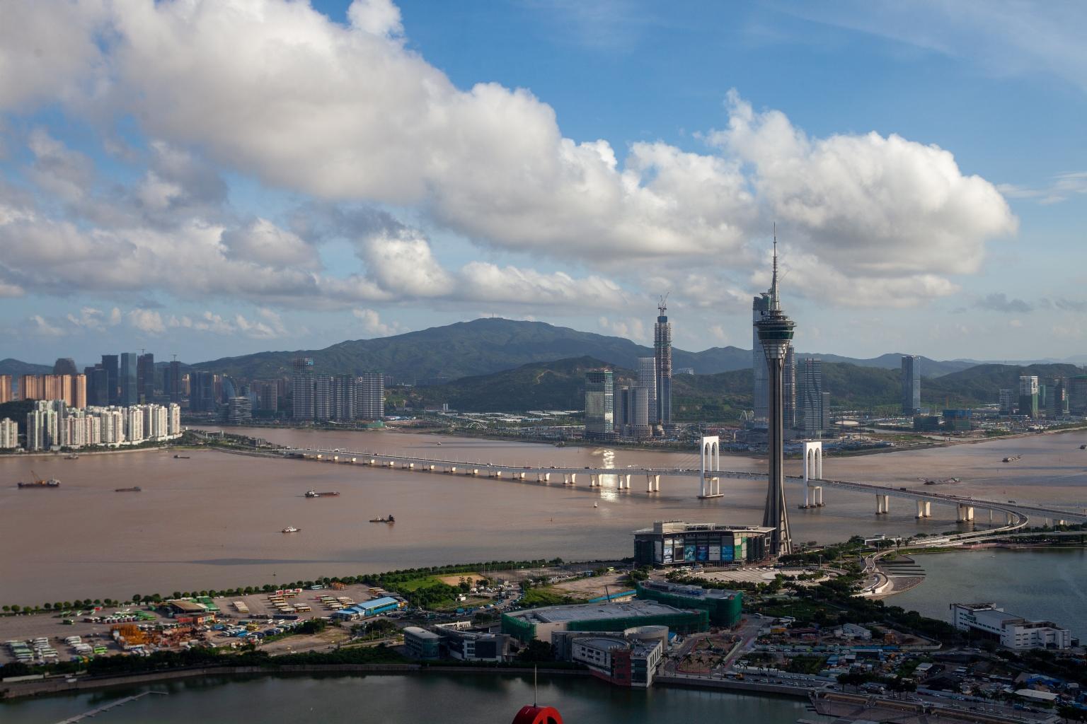 旅遊塔及遠處的橫琴新區