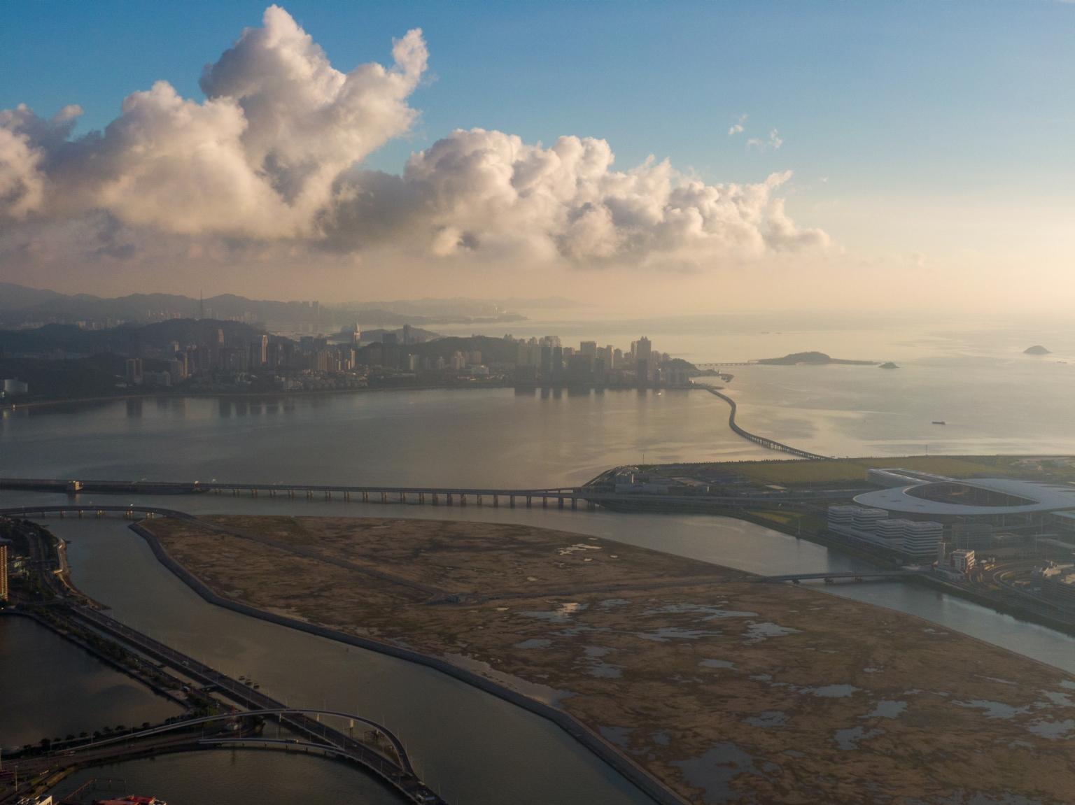 新城A區及人工島、通往珠海工程便橋