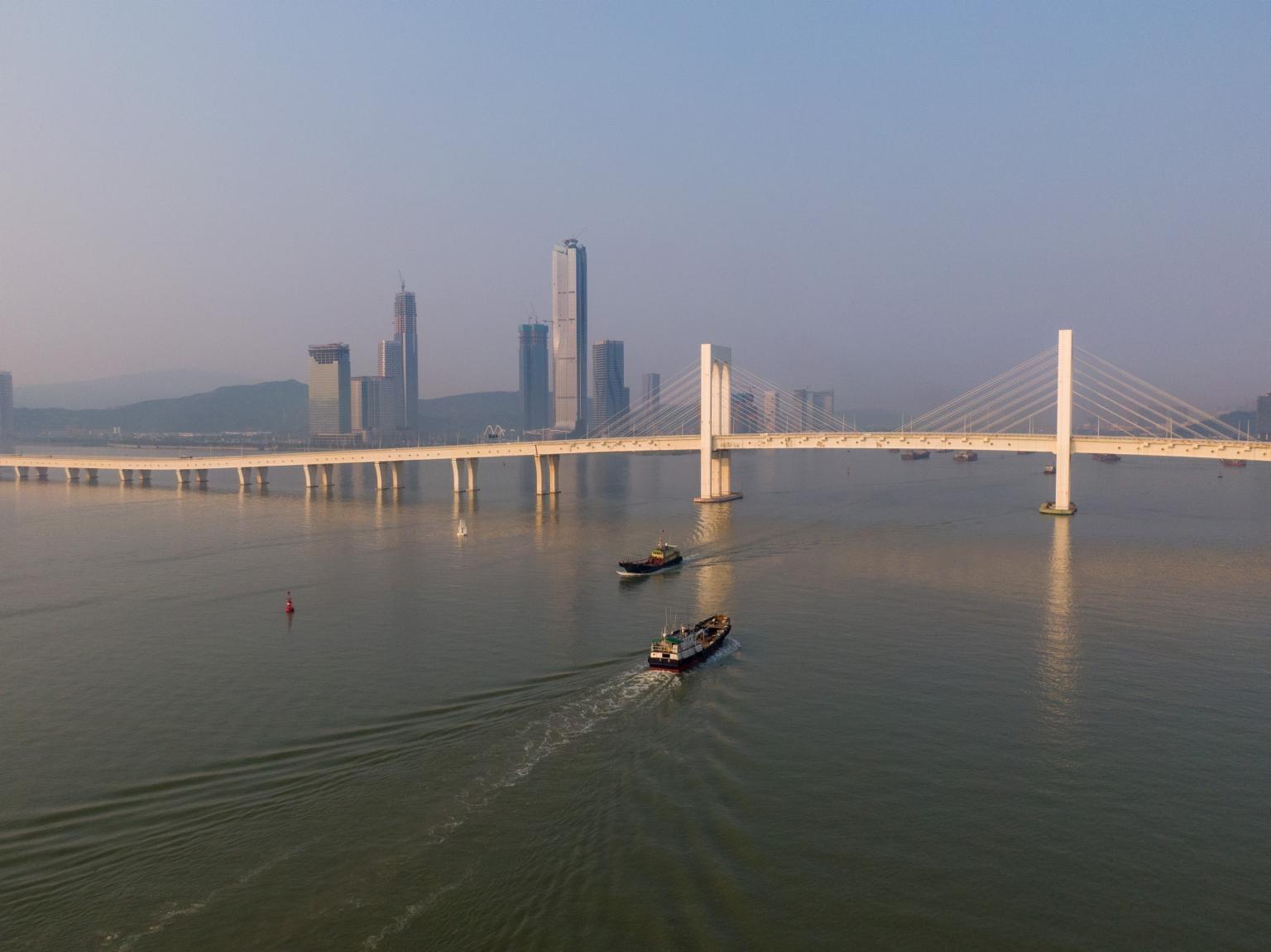 西灣大橋向橫琴看